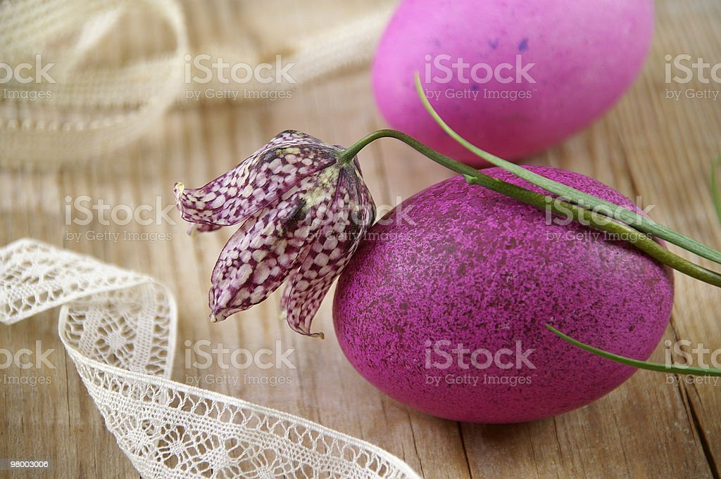 Pink easter eggs royalty-free stock photo