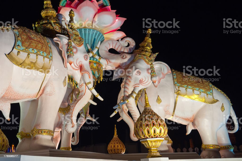 Pink Elephant statue. Bangkok. Thailand. royalty-free stock photo