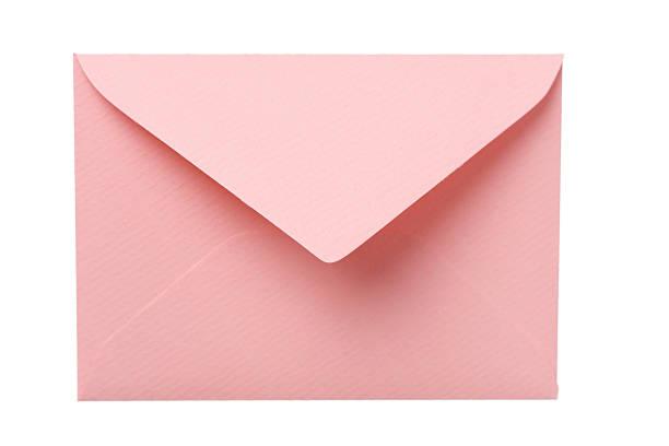 Pink Envelope stock photo