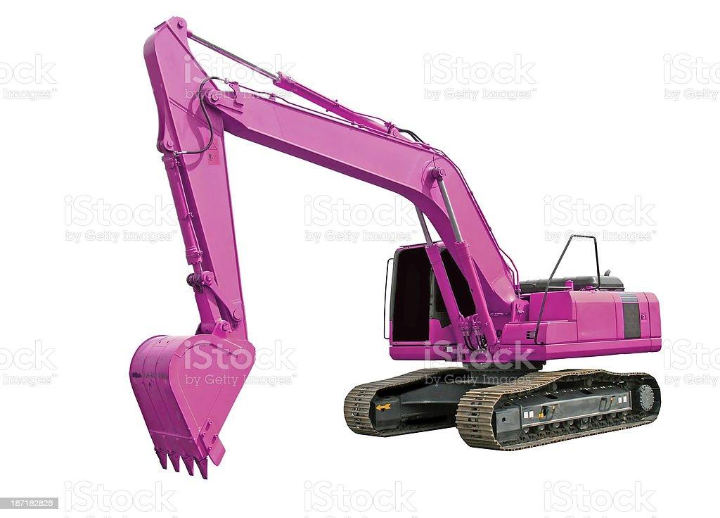 Pink excavator stock photo
