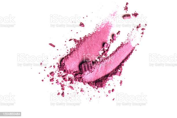 Pink eye shadow stroke isolated on white background top view flat lay picture id1204850484?b=1&k=6&m=1204850484&s=612x612&h=oxl1fqtph dfgngfz9vdu610oedswprox9eeqkhz1hu=