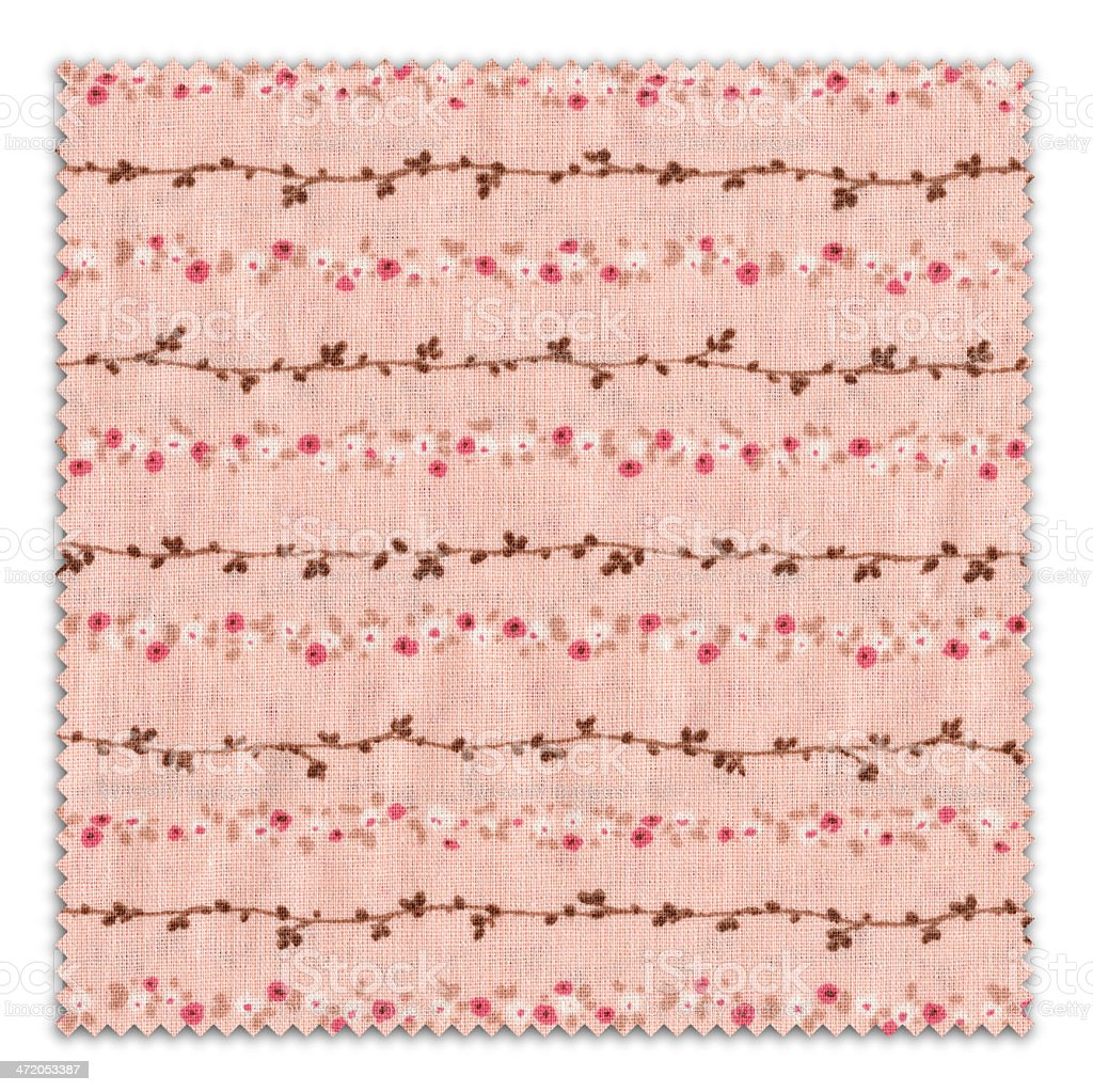 Pink Fabric Swatch (Clipping Path) royalty-free stock photo