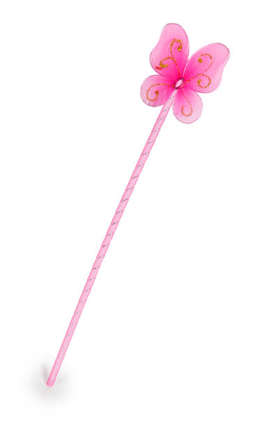 pink fairy wand - fairy wand stock photos and pictures