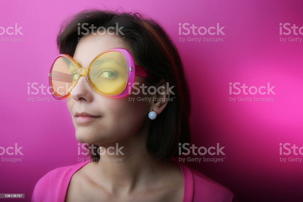 Pink fashion sunglasses royalty-free stock photo