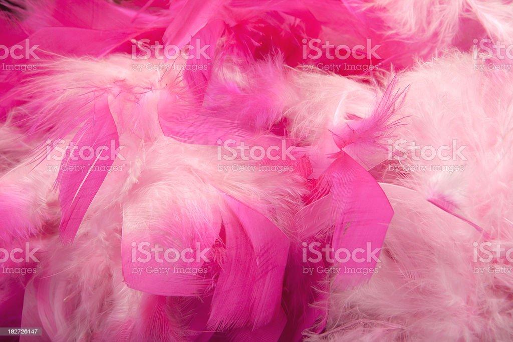 Pink feather boa background stock photo