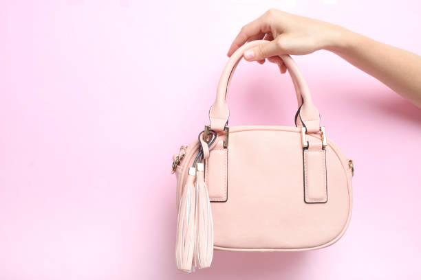 Pink female bag stock photo