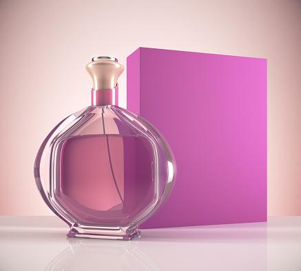 istock Pink female perfume 830806538
