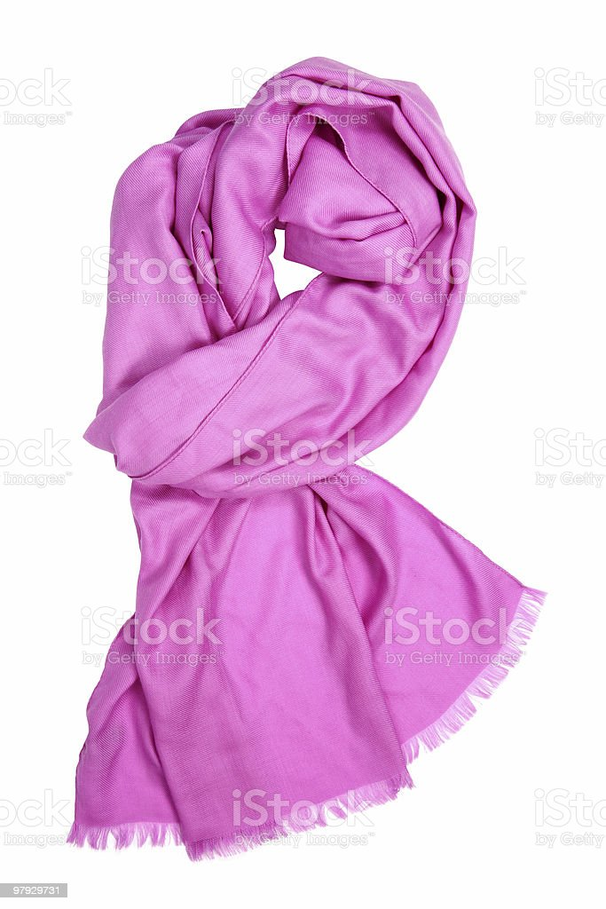 Pink female scarf royalty-free stock photo