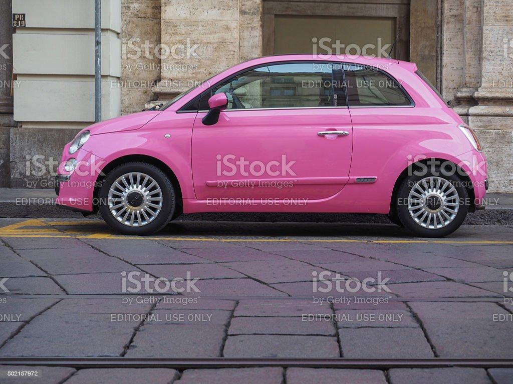 Pink Fiat 500 – Foto