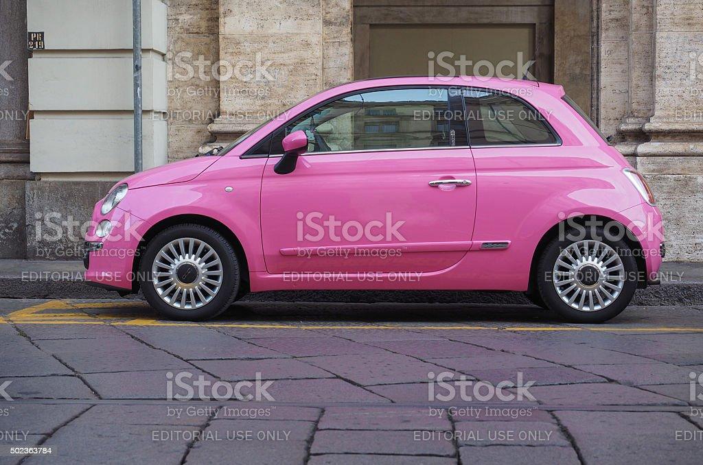 Rosa Fiat 500 auto - foto stock