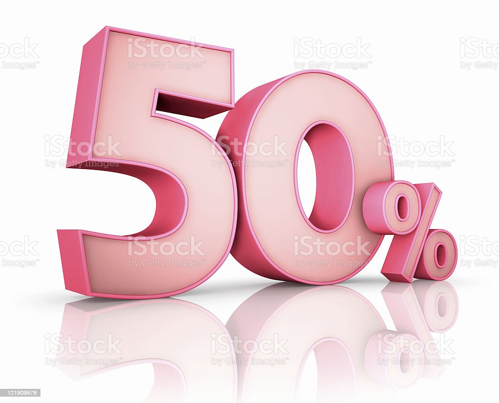 Pink Fifty Percent royalty-free stock photo