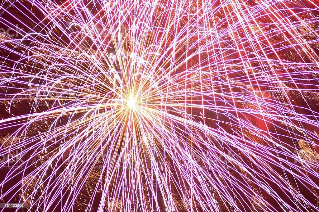 Pink Fireworks royalty-free stock photo