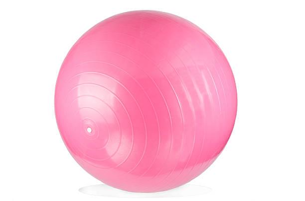 rosa fitness-ball - rosa training stock-fotos und bilder