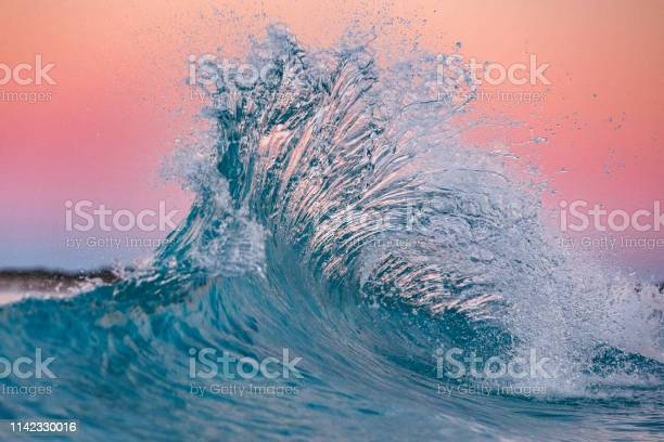 Photo of Pink flare in the ocean