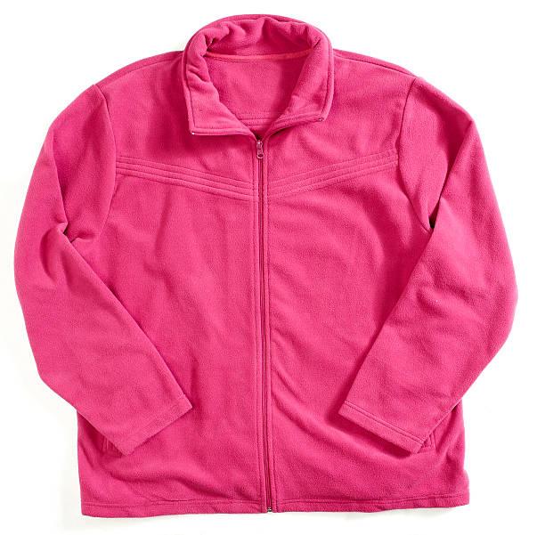 pink fleece-jacke - fleecepullover stock-fotos und bilder