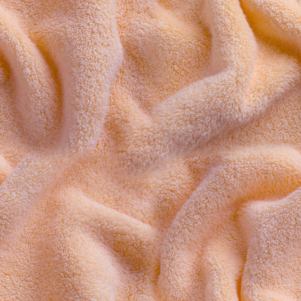 Pink fluffy terry towel as seamless pattern stock photo