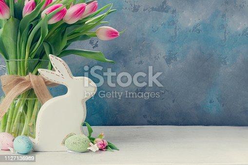 istock Pink fresh tulips 1127136989