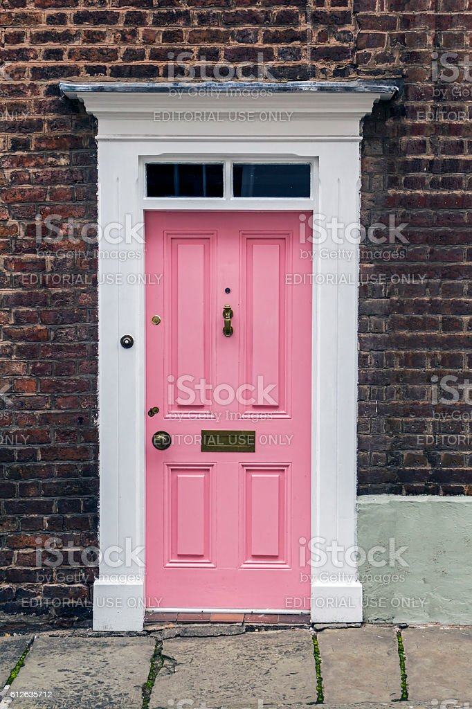 Pink Front Doors royalty-free stock photo & Pink Front Doors Stock Photo \u0026 More Pictures of Architecture | iStock