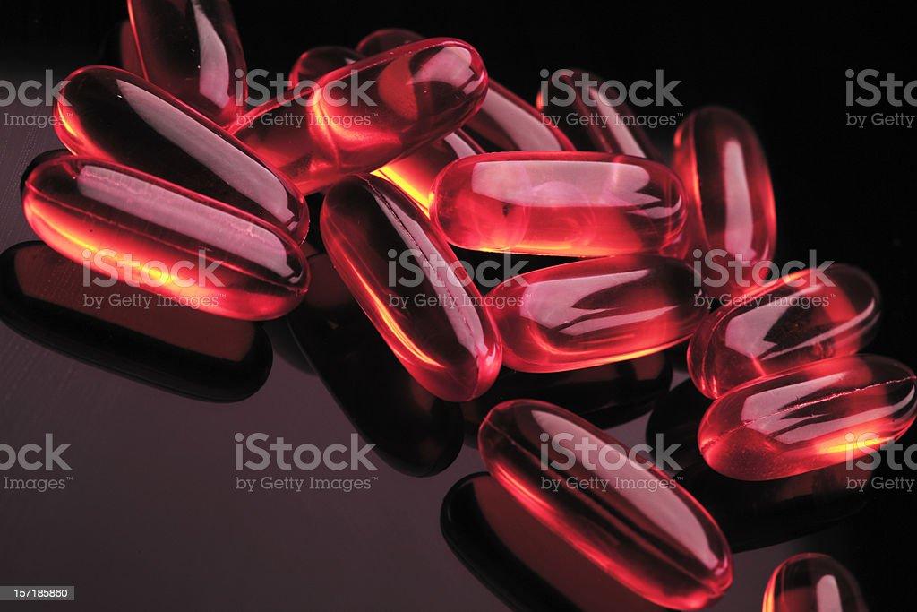 Pink gel pills royalty-free stock photo