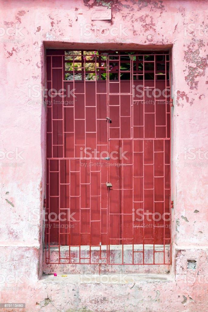 Pink Getsemani Door stock photo