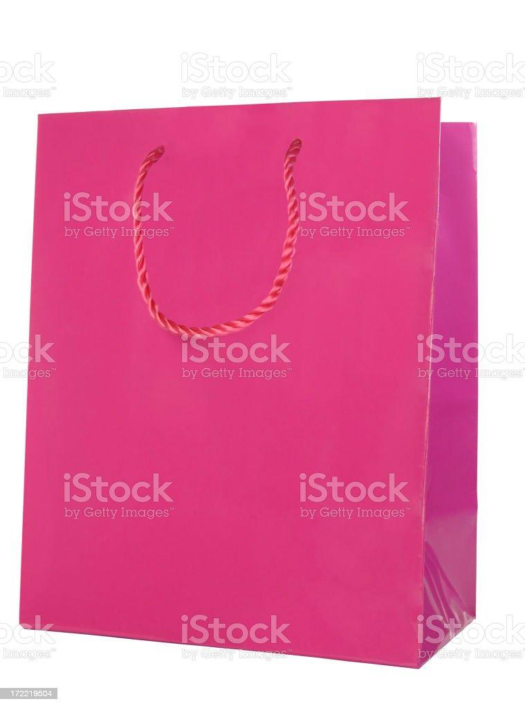 Pink gift bag stock photo