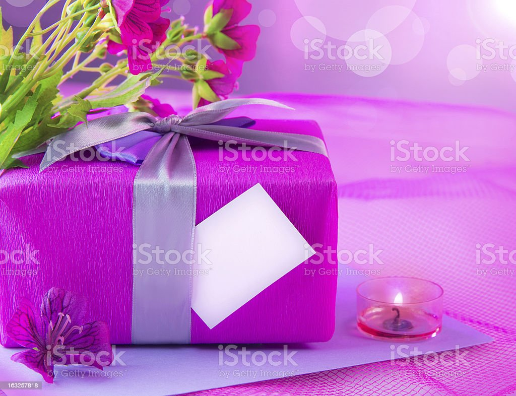 Pink giftbox for mother royalty-free stock photo