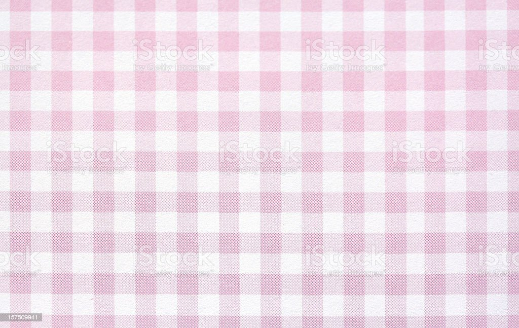 Pink Gingham stock photo