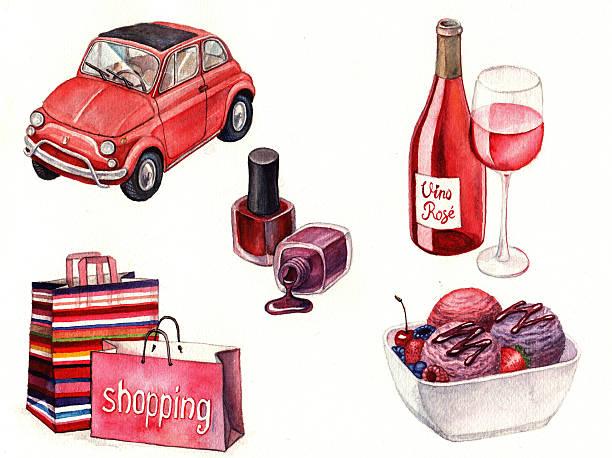 rosa mädchen details - mini weinflaschen stock-fotos und bilder