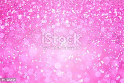 istock Pink Girl Princess Confetti Background 547530654