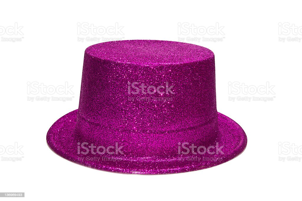 Pink Glitter Hat stock photo