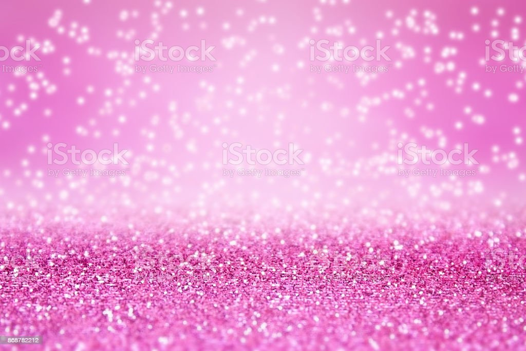 Pink Glitter Sparkle Background for Birthday, Princess or Christmas stock photo