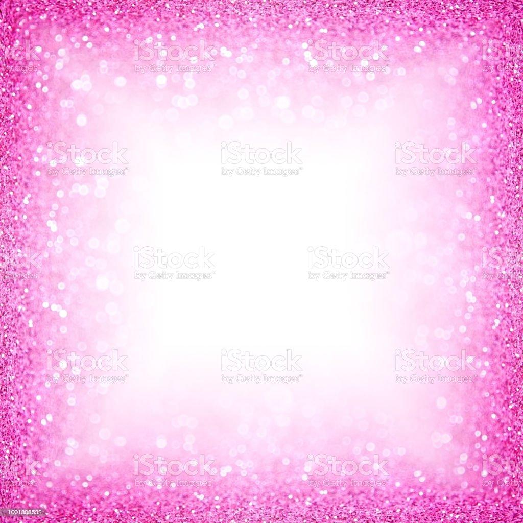 Pink Glitter Sparkle Border Birthday Girl Frame stock photo