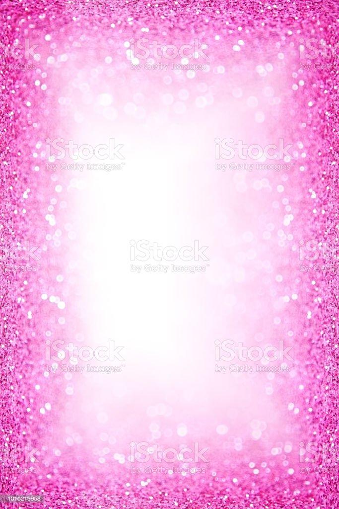 Pink Glitter Sparkle Border Frame Background Stock Photo & More ...