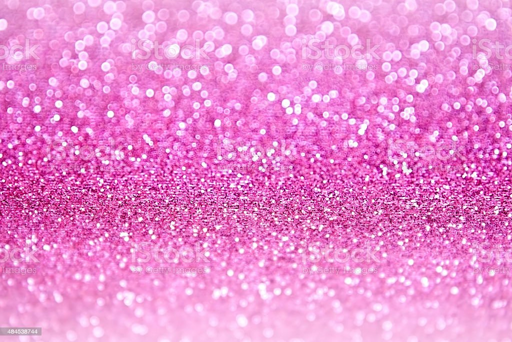 Pink Glitter Sparkle Confetti Background stock photo