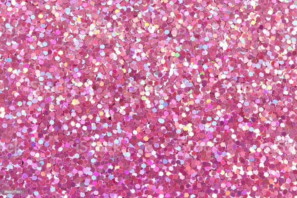 Pink glitter texture stock photo