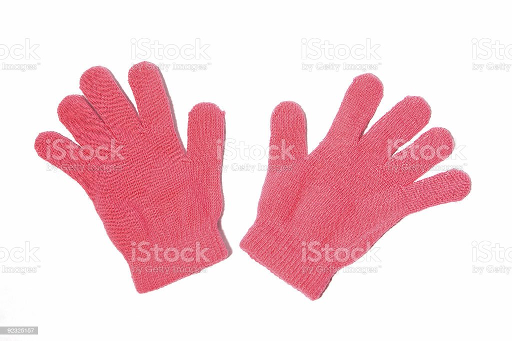 Pink Gloves royalty-free stock photo