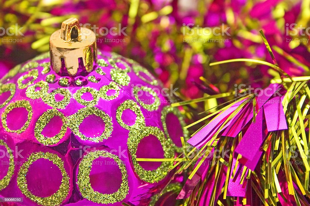 Pink gold ball royalty-free stock photo