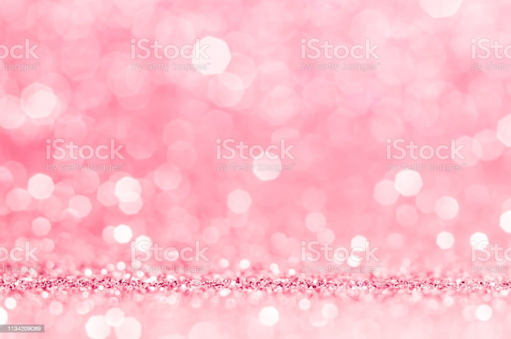 Pink gold, pink bokeh,circle abstract light background,Pink Gold...