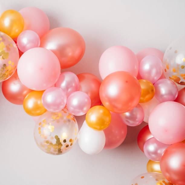 Rosa goldene Ballon Girlande – Foto