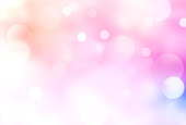 Blurred lights, de focused pink soft background.Shiny romantic valentine backdrop.Beautiful glowing magical illustration.
