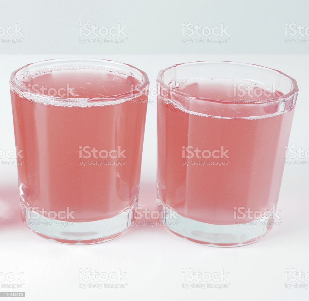 Pink grapefruit juice stock photo