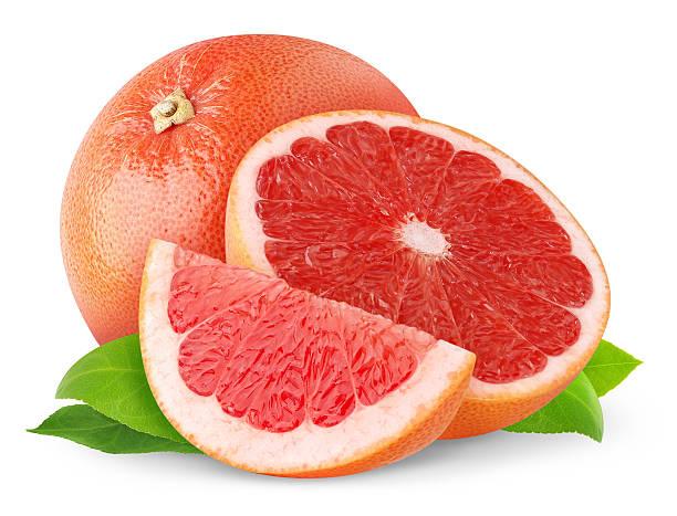 pink grapefruit - grapefruit stock photos and pictures