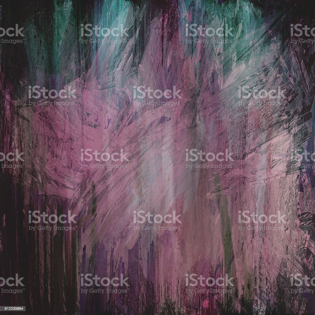 pink green dark grungy abstract painted background stock photo