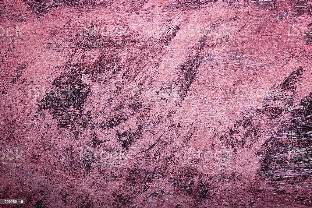 Pink Grunge background with paint brush marks. stock photo