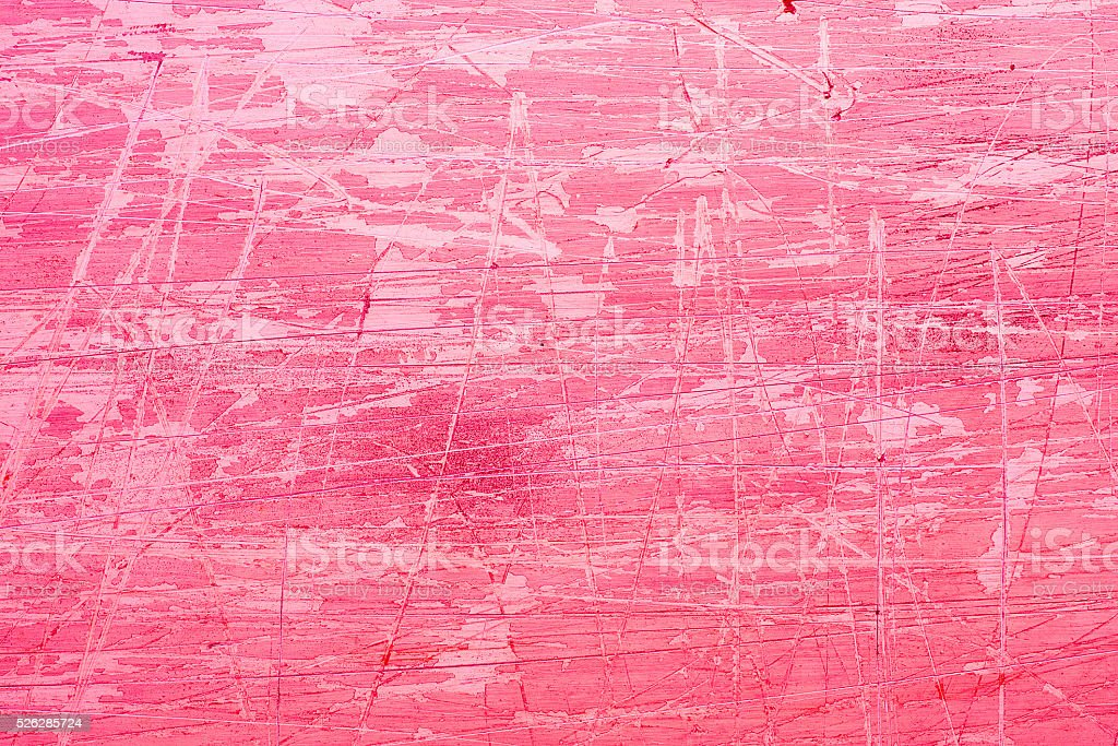 Pink grunge background with scratches stock photo