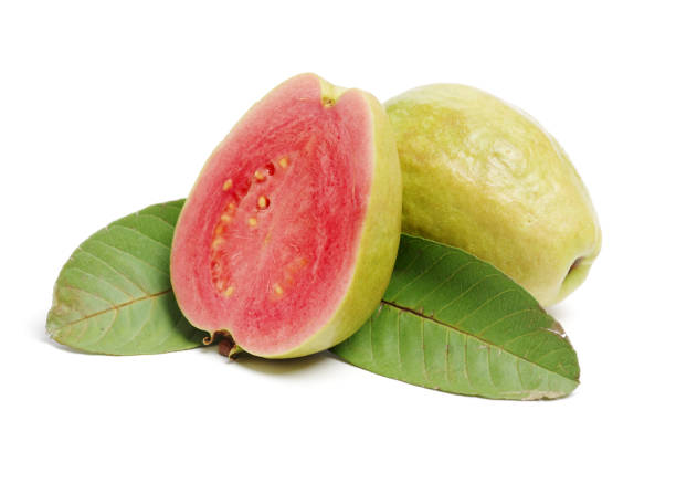 Pink guava isolated on white background Pink guava isolated on white background guava stock pictures, royalty-free photos & images