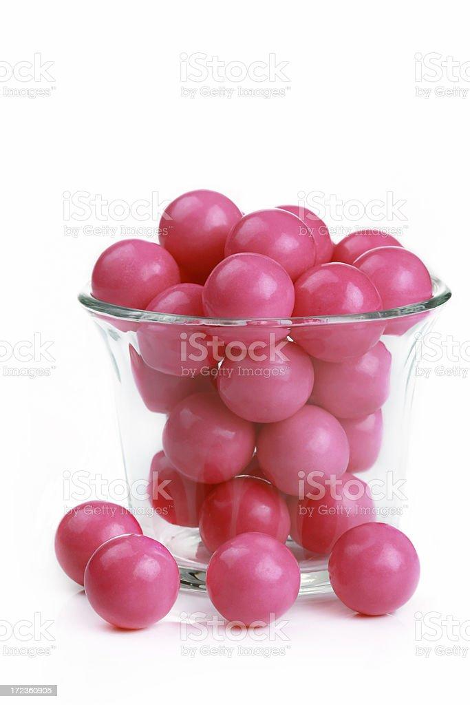 Pink Gumballs stock photo