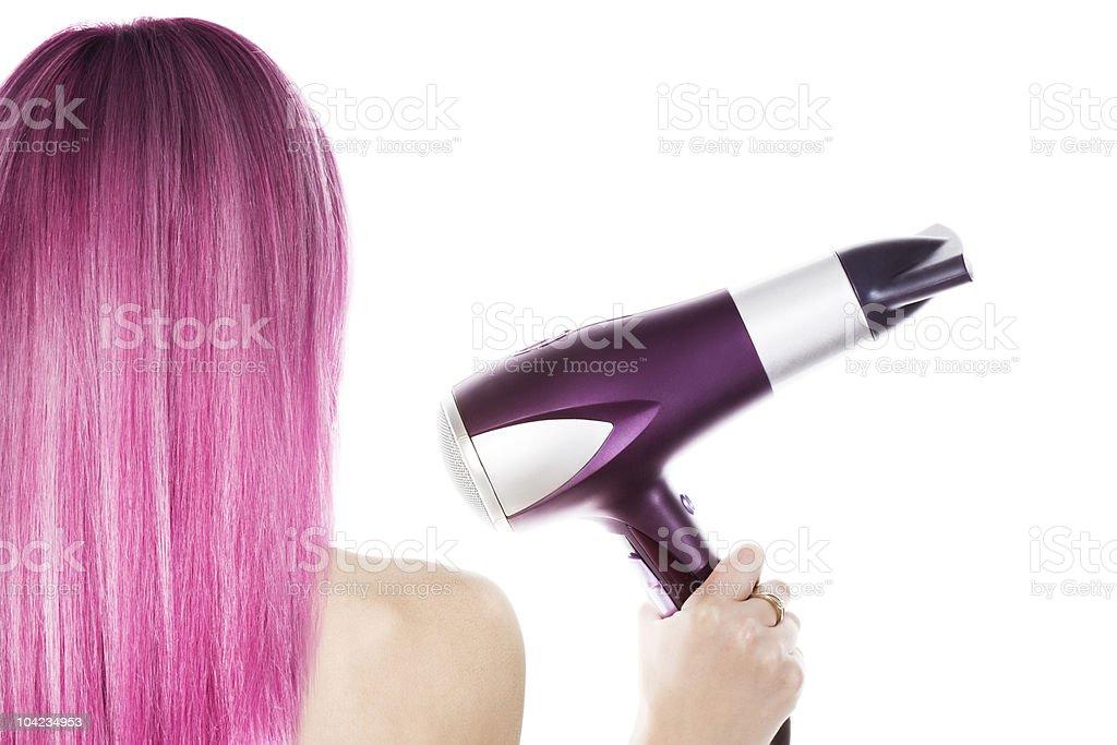 Pink hair royalty-free stock photo