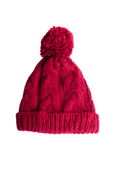 Pink hat Pink hat over white knit hat stock pictures, royalty-free photos & images
