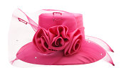 A fancy pink woman's hat.Please see some similar pictures from my portfolio: